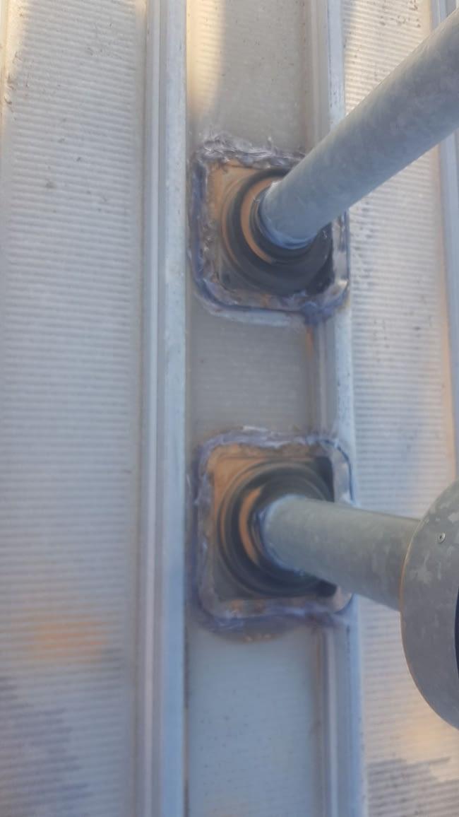 Dektites sealed on cliplock roof