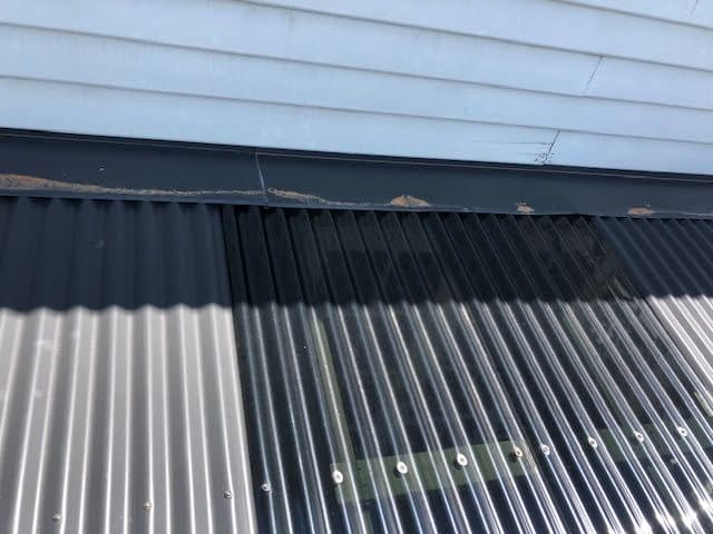 laserlight replaced on metal sheet roof
