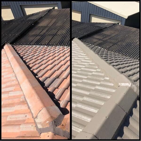 Oates roofing tile painting